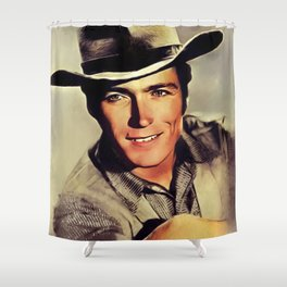 Clint Eastwood, Hollywood Legend Shower Curtain