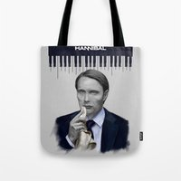 hannibal Tote Bags featuring Hannibal by firatbilal