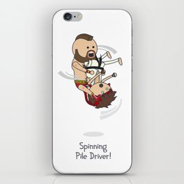 Spinning Pile Driver iPhone Skin