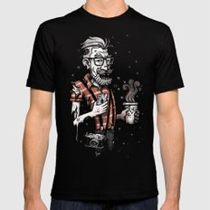 Zomb Hipster Black MEDIUM Mens Fitted Tee