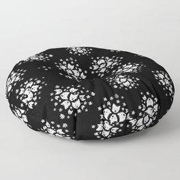 KiniArt Westie Bouquets Floor Pillow