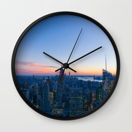 New York Cityscape VIew (Color) Wall Clock