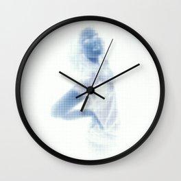 A Blue Spotted Jasper Wall Clock