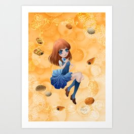 Pains japonais - Japanese breads Art Print