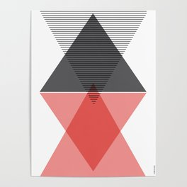 Scandinavian  triangular  art Poster