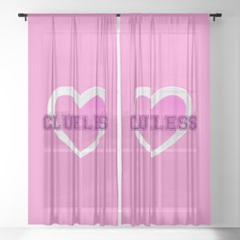 Clueless V Sheer Curtain