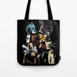 Anime heroes 3 Tote Bag