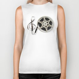 Famous Reel and Clef Image by Leslie Harlow Biker Tank