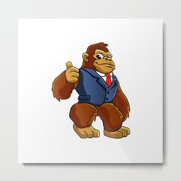 Gorilla in suit. Metal Print