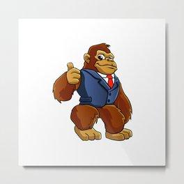 Gorilla in suit. Metal Print