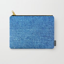 MACRO PHOTOGRAPHY - JEANS TEXTURE MATERIAL Carry-All Pouch