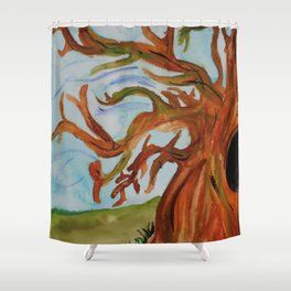 Half Tree Shower Curtain