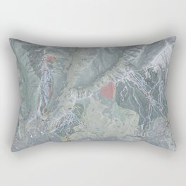 Aspen Snowmass Resorts Trail Map Rectangular Pillow