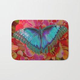 Extreme Blue Morpho Butterfly Bath Mat