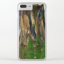 A climbers high Clear iPhone Case