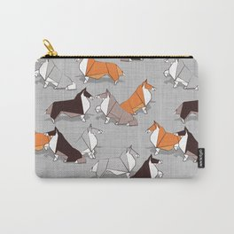 Origami Collie doggie friends Carry-All Pouch