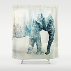 Vanishing Elephant  Shower Curtain