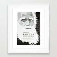 darwin Framed Art Prints featuring Darwin by James Northcote