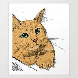 Fonda the Orange Cat Art Print