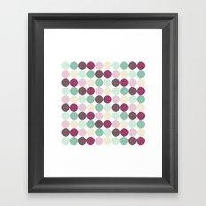 Modern Dots Framed Art Print