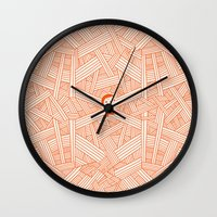 labyrinth Wall Clocks featuring Labyrinth by Jarvis Glasses