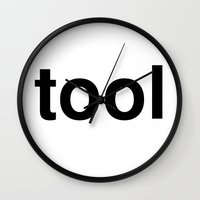 tool Wall Clocks featuring tool by linguistic94
