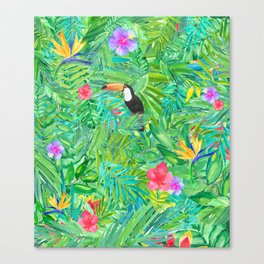 Foret tropicale Canvas Print
