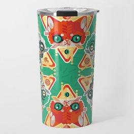 Pizza Slice Cats  Travel Mug