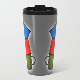Vintage green, blue, red enamel mugs in modern look Travel Mug
