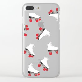 White Roller Skates Clear iPhone Case