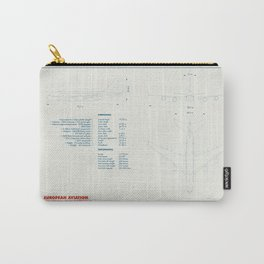Airbus A380 plane technical drawing Carry-All Pouch