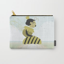 Queen bee resting on a flower Carry-All Pouch