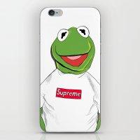 kermit iPhone & iPod Skins featuring KERMIT/SUPREME by VivaLaJim