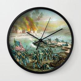 Battle of Fredericksburg -- Civil War Wall Clock