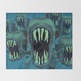 Piranhas Underwater Fish Throw Blanket