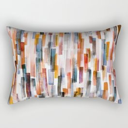Lines in a Painted Pattern No 2 Rectangular Pillow