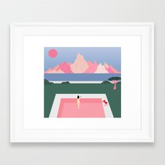 Poolside Views Framed Art Print