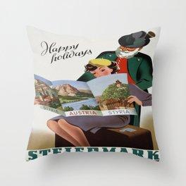 Vintage poster - Steiermark Throw Pillow
