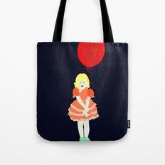 En röd ballong Tote Bag