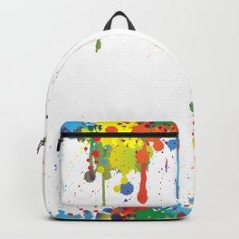 Paint Watercolor Splatter Backpack