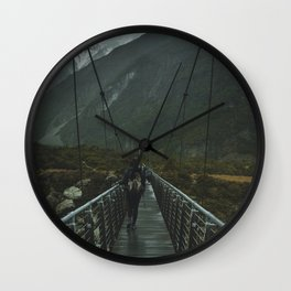 Hiking around the Mountains & Valleys of New Zealand Wall Clock