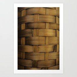 wooden basket Art Print