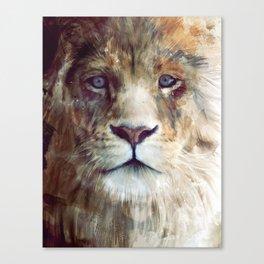 Lion // Majesty Canvas Print