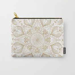 Boho Chic gold mandala design Carry-All Pouch