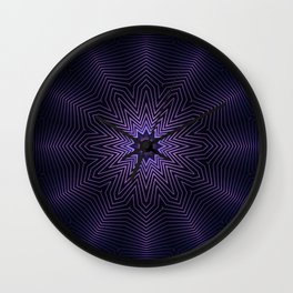 Deep Purple Mandala Wall Clock