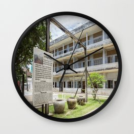 S21 The Gallows - Khmer Rouge, Cambodia Wall Clock