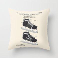 Hockey Skate Patent Throw Pillow