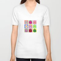 lumpy space princess V-neck T-shirts featuring Lumpy Space Prince ala Warhol by www.Lusy.ink