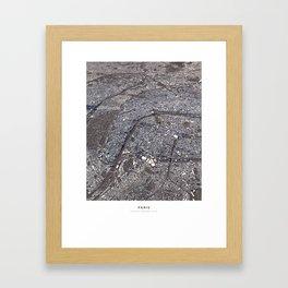 Paris II - city map Framed Art Print