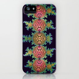 Amazing patterns in orbs and dragon spirals iPhone Case